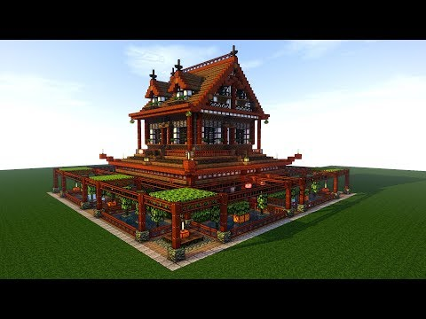 Minecraft Tutorial: EPIC Survival House Tutorial | How to make a Japanese house | (Ninja) 2018
