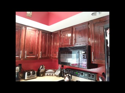 Refinished Kitchen Cabinets 7 years later!