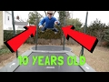 INSANE 10 YEAR OLD LEARNS TRAMPOLINE TRICKS