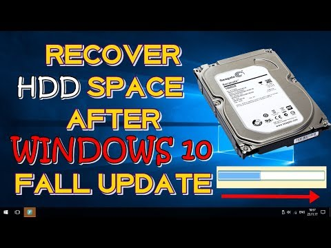 RECOVER YOUR HARD DISK SPACE AFTER WINDOWS 10 FALL CREATORS UPDATE