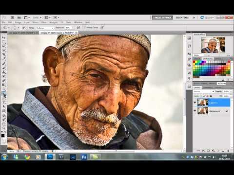 photoshop tutorial - Dragan effect