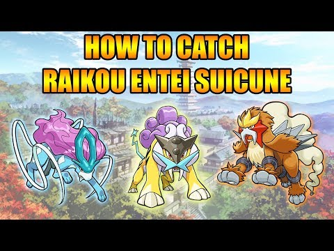 HOW TO CATCH RAIKOU ENTEI AND SUICUNE IN GOLD AND SILVER 3DS