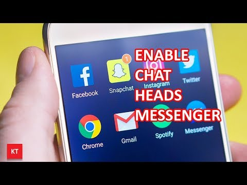 How to turn on chat heads in messenger