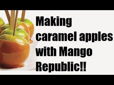 Making Caramel Apples with Mango Republic :)