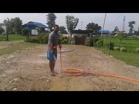 Making of Badminton Court Cr:- Neer Bd. Katuwal