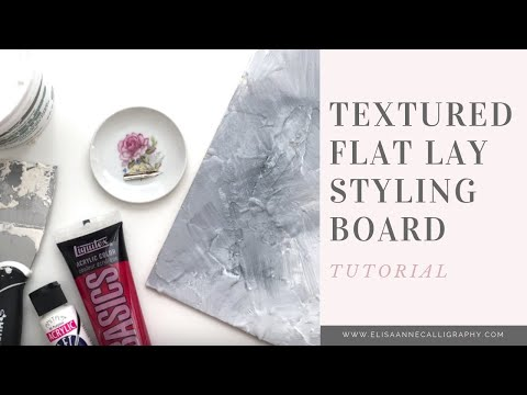 How to Make a Textured Styling Board for Flay Lay Photography & Wedding Invitations | DIY