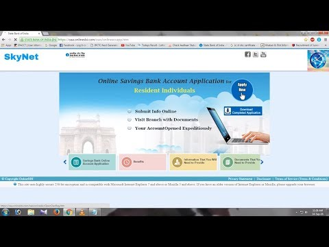 how to apply online for sbi savings account opening new form 2016