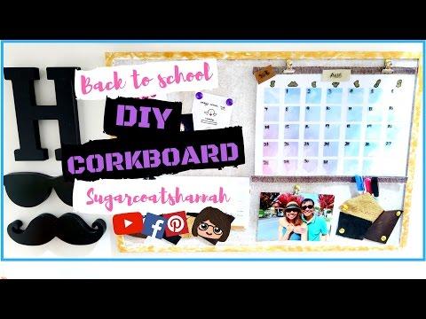 Back to school DIY CORK BOARD calendar organizer SCH DIY
