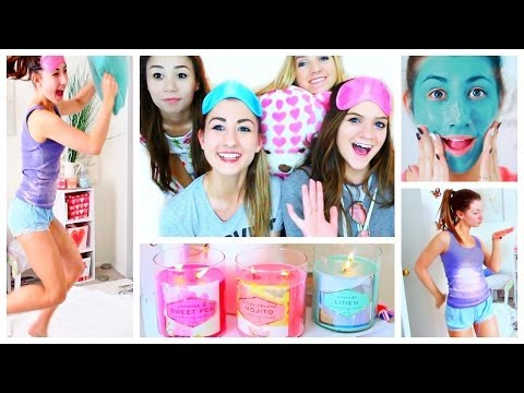 Night Routine | What Girls Do At Sleepovers!