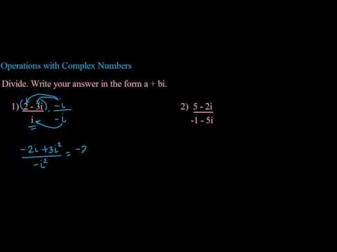 Operations with Complex Numbers Ex  3