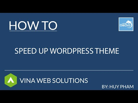[VG Theme] How To Speed Up Your WordPress Theme?