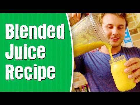 First Blended Juice Recipe — Mango & Passion Fruit
