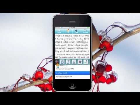 How to set format for whole mail on iPhone/iPad/iPod Touch