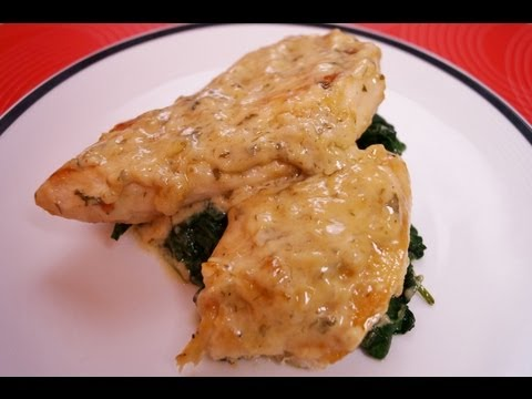 Chicken & Spinach in a White Wine Sauce: Chicken Florentine Recipe: Dishin' With Di Kometa Video #25