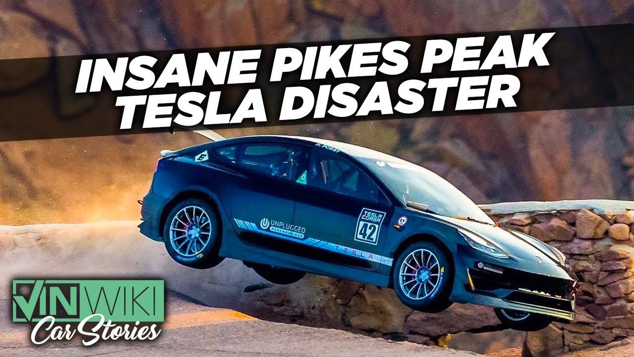 Randy Pobst's DISASTROUS Tesla crash at Pikes Peak