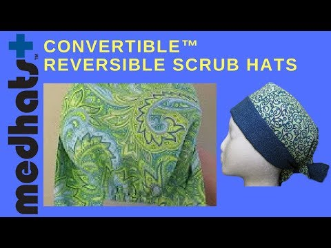 Isabella's Garden Design Convertible™ Scrub Hat Video at Medhats™.mov