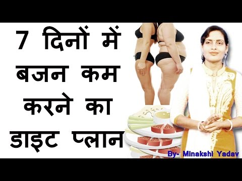 Tips for weight loss in 7 days in hindi diet plan to reduce weight to lose weight indian diet plan v