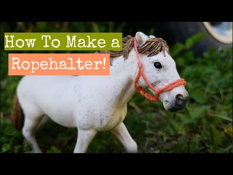How To Make a Schleich Ropehalter! ||Daisy Stalls||