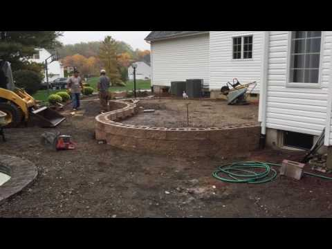 Building a raised paver patio