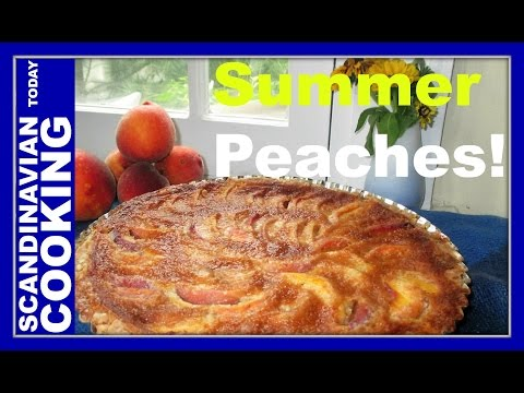 How to Make Homemade Peach Almond Tart 🌞 🍑