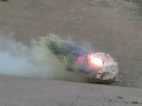copper(II) chloride reacting with aluminum powder