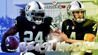 MADDEN NFL 18 (BEAST MODE ACTIVATED!!!) 200 YARDS RUSHING WITH MARSHAWN LYNCH HE