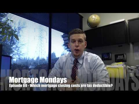 What mortgage closing costs are tax deductible? | Mortgage Mondays #89