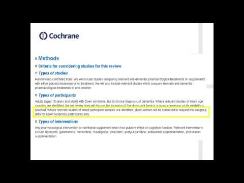 Common errors and best practice when writing a Cochrane Protocol - FULL WEBINAR