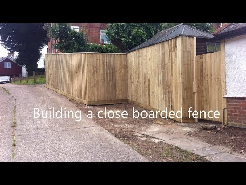 Building a close boarded fence