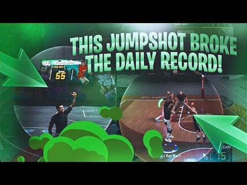 THIS JUMPSHOT IS INSANE!!! I BROKE THE GREEN RECORD - NBA 2K18