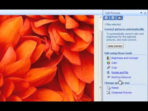 Resizing Images wtih Microsoft Picture Manager