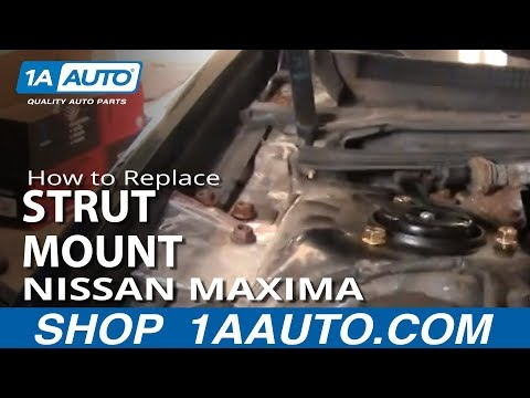 How To Replace Rusted Worn Upper Strut Mount and Bearing 2000-08 Nissan Maxima Altima