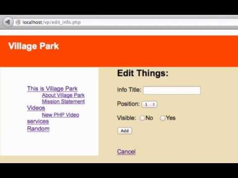 Building a CMS with PHP part 61 - Update Menu