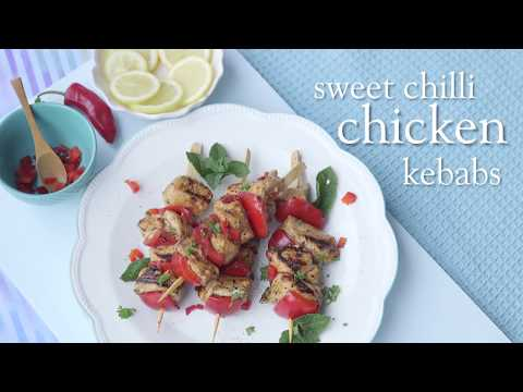 Slimming World Syn Free sweet chilli chicken kebabs