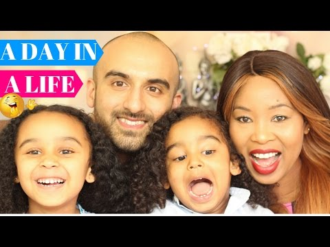 A DAY IN A LIFE - Interracial Family - Mommy chores - Food Shopping - Tesco - Editing - Filming