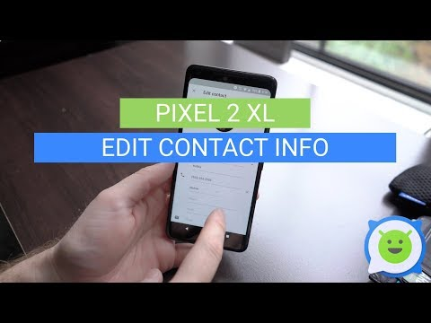 Pixel 2 XL: How To Edit Contact Info