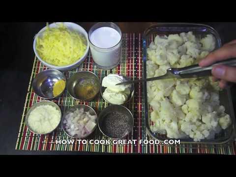 Cauliflower Cheese Recipe - No Flour Super fast