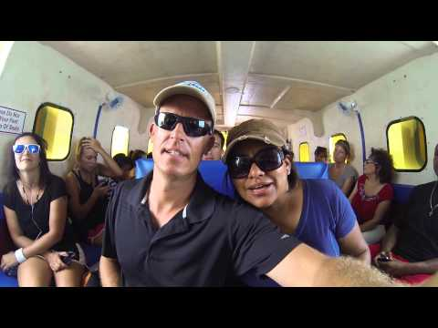 Belize Mike & Ivonne on Ferry From Chetumal Mexico To San Pedro Belize