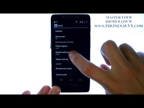 Motorola Droid Razr M - How Do I Change Text Message Ringtone