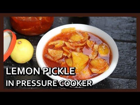 Instant Lemon Pickle in Pressure Cooker |  कुकर में बनाए खट्टा मीठा नींबू का अचार | Healthy Kadai