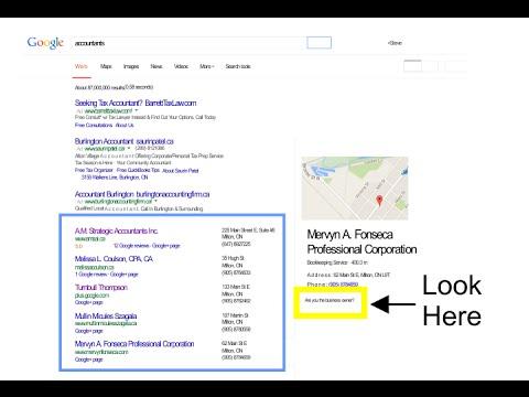 Claim Your Google Local Listing