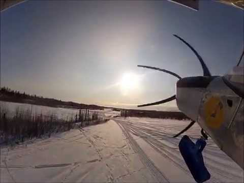 Flying the Zenith STOL from snow skis in Alaska - long version