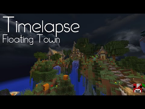 Minecraft Timelapse - A Town on Floating Islands! (With World Download!)