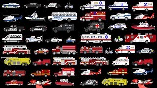 Emergency Vehicles Collection - Police, Fire, & Medical - The Kids
