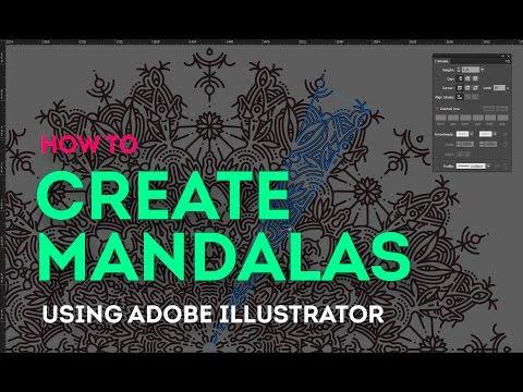 Tutorial How To Easily Create Mandalas On Adobe Illustrator