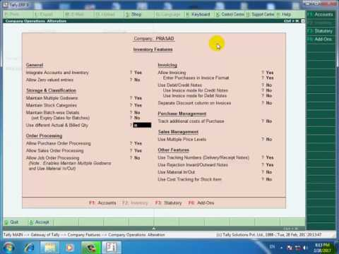 Tally.erp 9 in hindi how to create tax invoice
