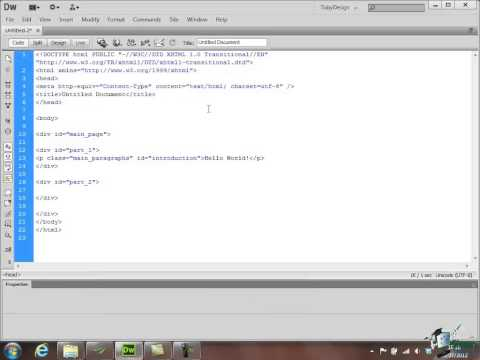 Dreamweaver CS6 Training - Part 34 - HTML CSS Basics - Create a Website Course