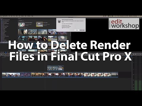 How to Delete Render Files in Final Cut Pro X