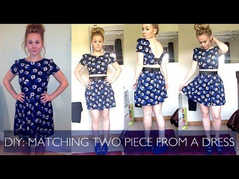 DIY: Make a Matching Two Piece Set from a Dress