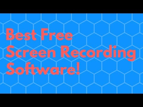 Best Free Screen Recording / Capturing Software for YouTube